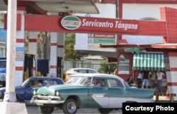 Gasolinera cubana operada por CUPET y el grupo militar CIMEX (Hablemos Press).