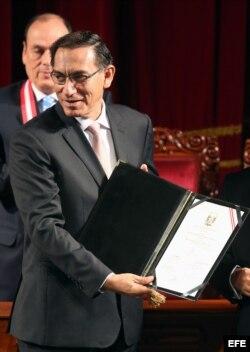 El vicepresidente Martín Vizcarra es el llamado a asumir Presidencia de Perú.