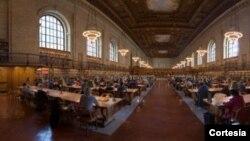 Sala de lectura en la Biblioteca Pública de New York