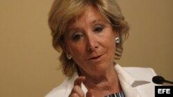 Renuncia la presidenta de la Comunidad de Madrid