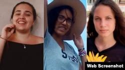 Isabel Amador Pardías, Karem del Pilar Refeca y Neife Rigau. (Foto Facebook vía ACI Prensa)
