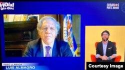 Captura de pantalla de un momento de la conversación del secretario general de la OEA, Luis Almagro, con el presentador Alex Otaola.