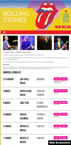La información sobre el tour por América Latina de Rolling Stones no incluye un concierto en Cuba.