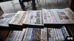 Periódicos venezolanos. Foto de archivo