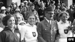 Adolfo Hitler en los Juegos Olímpicos de Berlín 1936