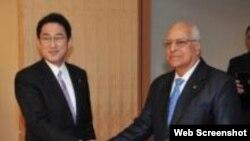 El vicepresidente del Consejo de Ministro, Ricardo Cabrisas, de visita en Japón.