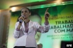 La candidata opositora Marina Silva.