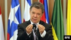El presidente de Colombia Juan Manuel Santos. EFE