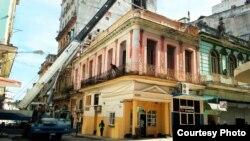 Derrumbe de una edificación a inicios de agosto en Centro Habana Foto Mario Hechavarría