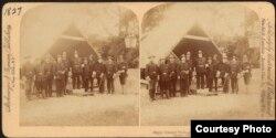 El Mayor General Fitzhugh Lee y su equipo en La Habana en 1899 (Boston Public Library).
