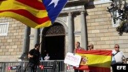 Ambiente ante el Palau de la Generalitat