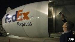 Un avión de FEDEX.
