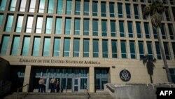 Fachada de la Embajada de Estados Unidos en La Habana.