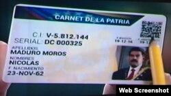 """El """"Carnet de la Patria"""", un documento al estilo de la libreta de racionamiento cubana."""
