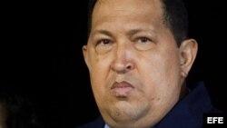 El presidente de Venezuela, Hugo Chávez, en Cuba.