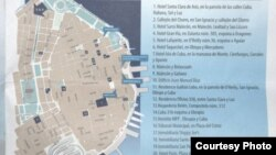 En el número 13 de este mapa puede verse la Hospedería Belén.