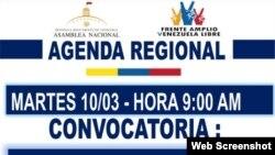 Convocatoria para marchar en Venezuela el 10 de marzo