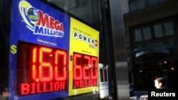 Un anuncio lumínico informa del acumulado del martes en la lotería Mega Milliions: 1.600 millones. El boleto ganador del mayor premio de lotería del mundo fue comprado en Carolina del Sur.