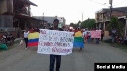Colombianos y cubanos protestan en Turbo contra las deportaciones