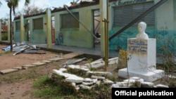 Dos escuelas se derrumbaron y 1.700 resultaron dañadas en Cuba al paso del ciclón Irma.
