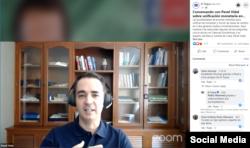 El economista cubano Pavel Vidal Alejandro, profesor universitario en Cali, Colombia, durante la entrevista que la revista El Toque compartió en su página de Facebook.