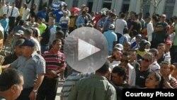 Protesta de cuentapropistas en Holguín