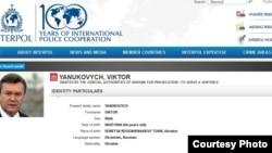 Interpol busca a Victor Yanukovich.