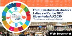 Foro: Juventudes de América Latina y el Caribe 2030 (Logo).