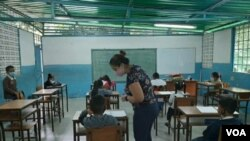 Venezuelan teacher Fabiana Duarte receives a three dollar monthly salary.