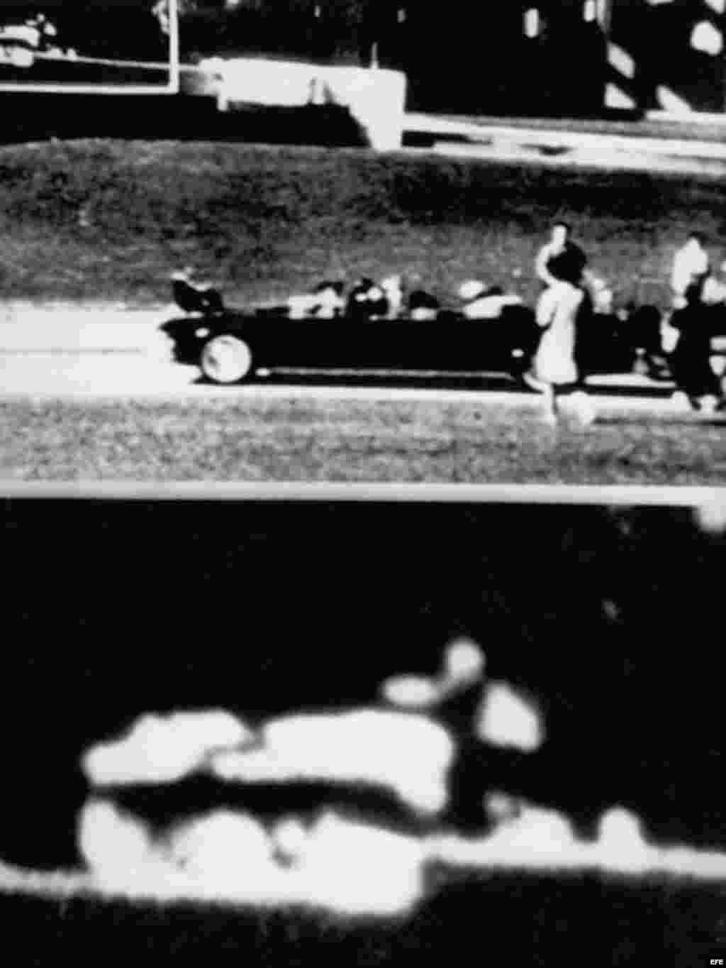 Imagen de una película tomada en el momento del asesinato de Kennedy