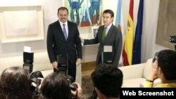 Embajador de Cuba en España y presidente Xunta de Galicia