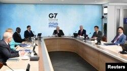 Líderes del G7 reunidos.