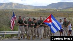 Marines en la Base Naval de Guantánamo.