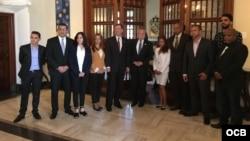 Reunión del secretario de Estado interino de EEUU, John Sullivan, con representantes de la sociedad civil independiente de Cuba y Venezuela.