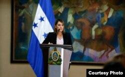 Carolina Menjivar, directora del Instituto Nacional de Migración de Honduras