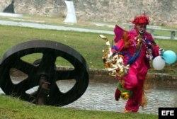 Un payaso en La Habana.