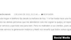 Comentario en Tribuna de La Habana