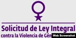 Cartel de la campaña para promover la adopción de una ley contra la violencia de género en Cuba.