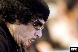 El líder libio, Muamar el Gadafi.