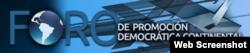 Logo del Foro de Promoción Democracia Continental.