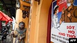 Imagen de un templo en Hanoi, capital de Vietnam, durante COVID-19