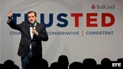 El aspirante a candidato presidencial republicano Ted Cruz