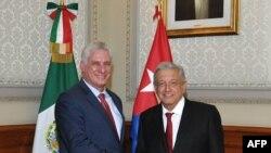 Diaz Canel y López Obrador