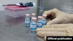 """La vacuna cubana """"Soberana"""", en una foto que el sitio Cubadebate atribuye a Gisela Rivero/Facebook."""