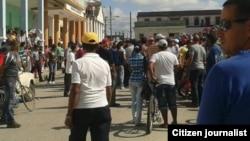 Detelles de la protesta de cuentapropistas en Holguín