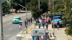 Declaraciones de Yunet Cairo sobre colas y protestas en La Habana