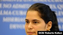 Sisi Abascal, joven cubana opositora al regimen cubano.