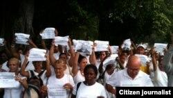Reporta Cuba. #Todosmarchamos, 24 domingos. Foto: Ángel Moya.
