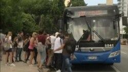 Imágenes de la crisis del Transporte y declaraciones de Díaz-Canel (VIDEO)