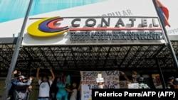 Una protesta contra la censura en Venezuela, el 9 de junio de 2017 en Caracas. (Federico Parra / AFP).